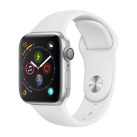 Apple Watch Series 4 - 40mm - Alu Argent - Bracelet Sport Blanc