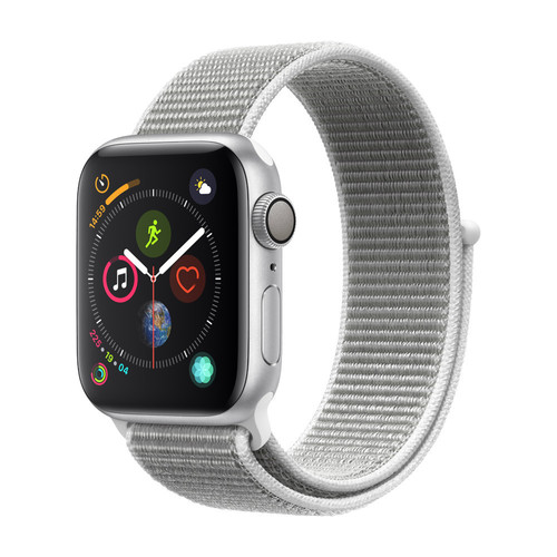 Apple Watch Series 4 - 40mm - Alu Argent - Boucle Sport Coquillage