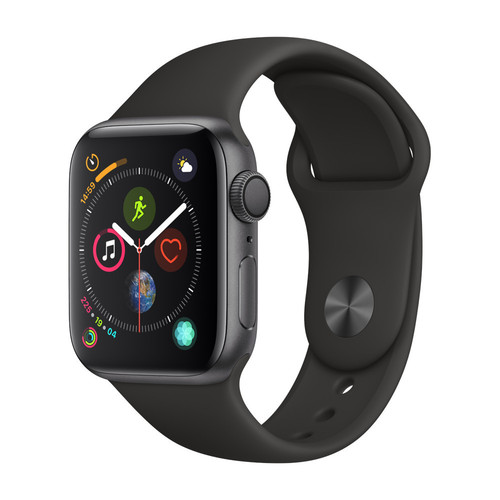 Apple Watch Series 4 - 40mm - Alu Gris Sidéral - Bracelet Sport Noir