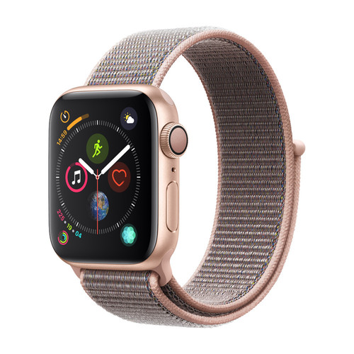 Apple Watch Series 4 - 44mm - Alu Or - Boucle Sport Rose des sables