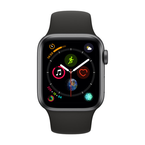 Apple Watch Series 4 Cellular - 40mm - Alu Gris Sidéral - Bracelet Sport Noir