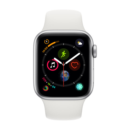 Apple Watch Series 4 Cellular - 44mm - Alu Argent - Bracelet Sport Blanc