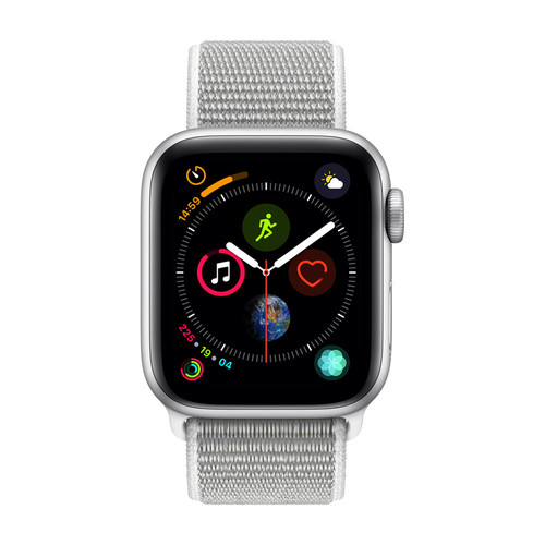 Apple Watch Series 4 Cellular - 44mm - Alu Argent - Boucle Sport Coquillage