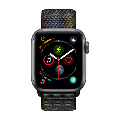 Apple Watch Series 4 Cellular - 44mm - Alu Gris Sidéral - Boucle Sport Noir