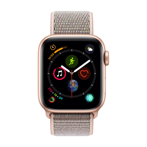 Apple Watch Series 4 Cellular - 44mm - Alu Or - Boucle Sport Rose des sables