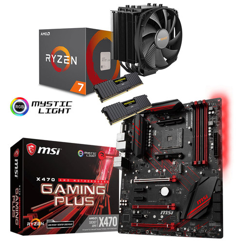 Kit d'évo AMD Ryzen 7 2700 + MSI X470 GAMING PLUS + Dark Rock 4 + 16 Go + 2 jeux offerts !
