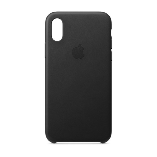 Apple iPhone Xs Leather Case - Noir