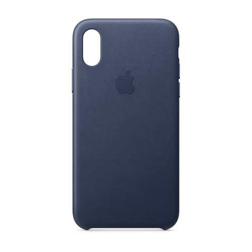 Apple iPhone Xs Leather Case - Bleu nuit