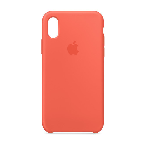 Apple iPhone Xs Silicone Case - Nectarine