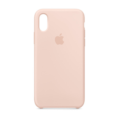 Apple iPhone Xs Silicone Case - Rose des sables