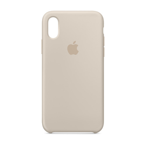 Apple iPhone Xs Silicone Case - Gris sable
