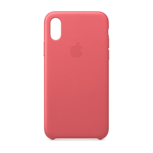 Apple iPhone Xs Max Leather Case - Rose Pivoine