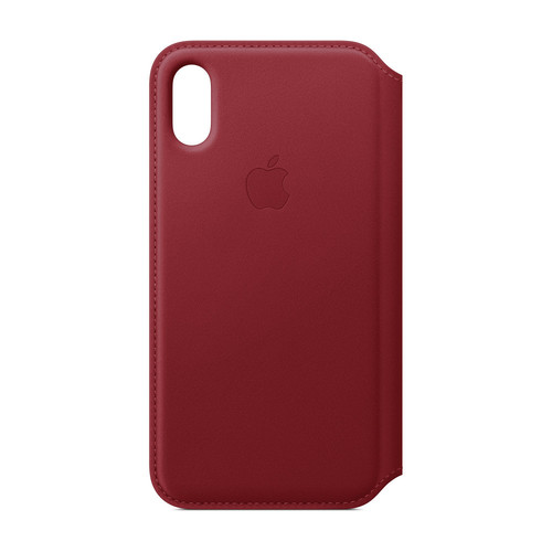 Apple iPhone Xs Max Leather Folio - (PRODUCT)RED