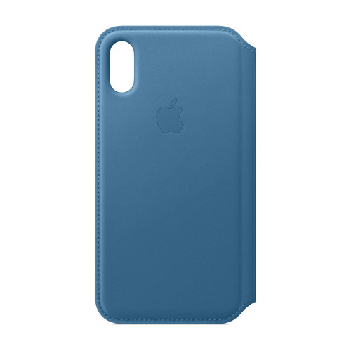 Apple iPhone Xs Max Leather Folio - Bleu Cape Cod