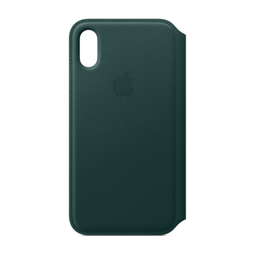 Apple iPhone Xs Max Leather Folio - Vert forêt
