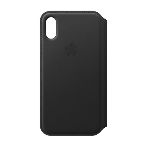 Apple iPhone Xs Max Leather Folio - Noir