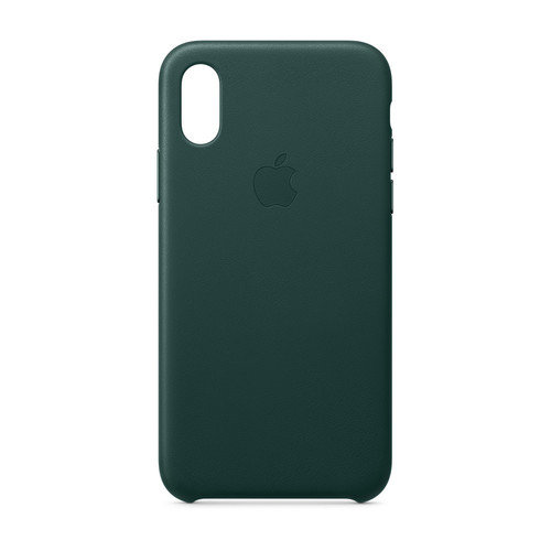 Apple iPhone Xs Leather Case - Vert forêt
