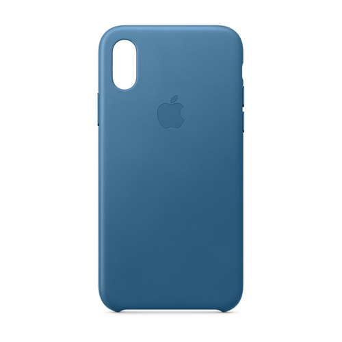 Apple iPhone Xs Leather Case - Bleu Cape Cod