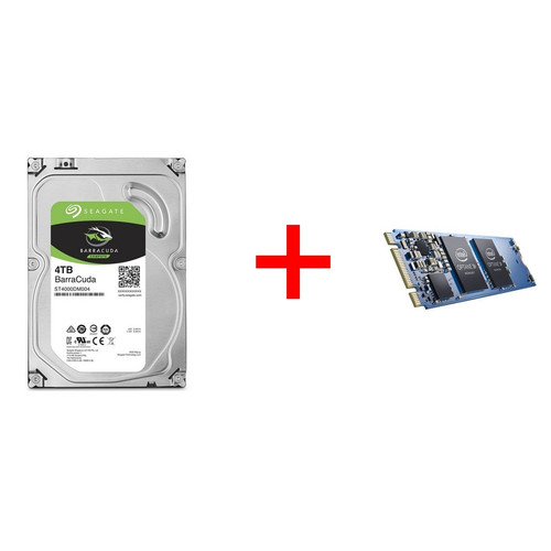Seagate BarraCuda, 4 To + Intel Optane, 32 Go, M.2 ( Type 2280 )