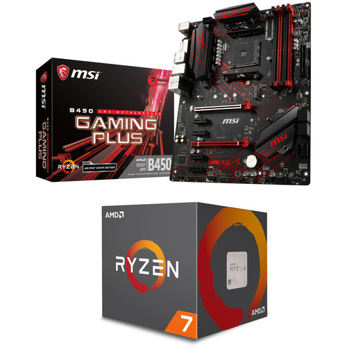 AMD Ryzen 7 2700 (3.2 GHz) + MSI B450 GAMING PLUS + Jeu offert !