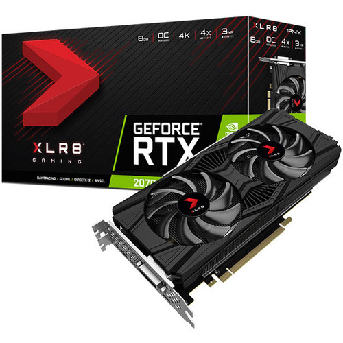 PNY GeForce RTX 2070 XLR8 Gaming OC Twin Fan, 8 Go + Jeu au choix offert !