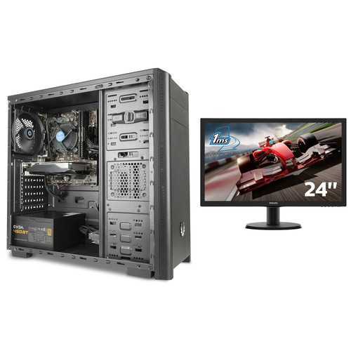 PC Gamer MOBA 1 (avec OS) + Philips 243V5LHSB