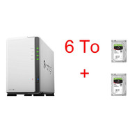 Synology DS218J x 2 Seagate IronWolf, 3 To