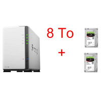 Synology DS218J x 2 Seagate IronWolf, 4 To