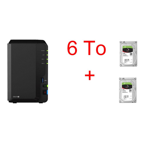Synology DS218+ + 2 Seagate IronWolf, 3 To