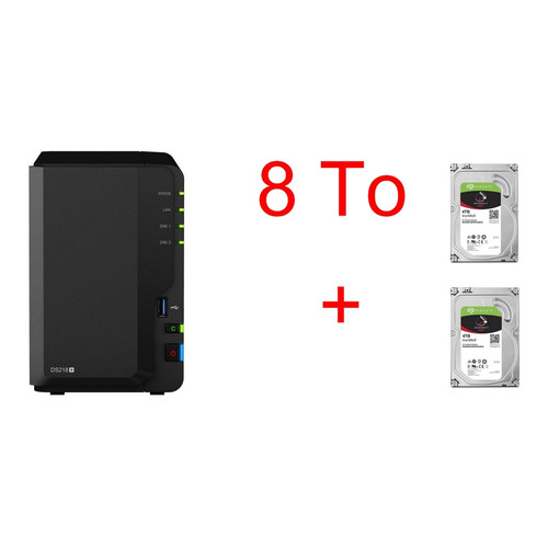Synology DS218+ & 2 x Seagate IronWolf, 4 To