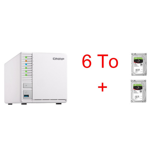 QNAP TS-328 + 2 x Seagate IronWolf, 3 To