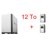 Synology DS218J x 2 Seagate IronWolf, 6 To