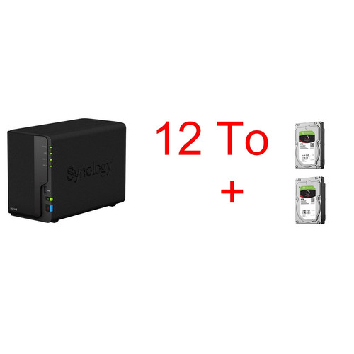 Synology DS218+ & 2 x Seagate IronWolf, 6 To