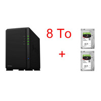 Synology DS218play + 2 x Seagate IronWolf, 4 To
