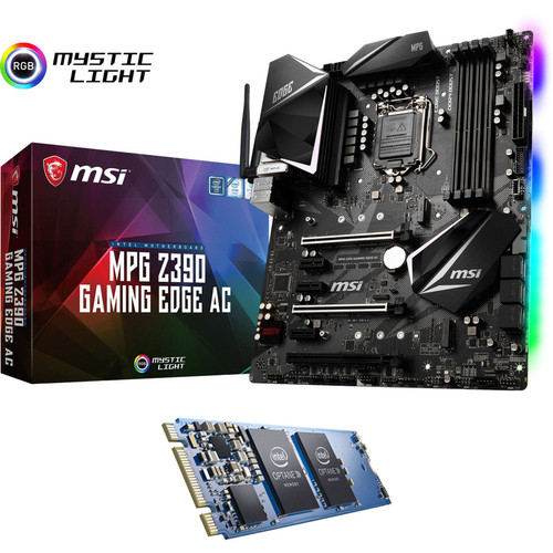 MSI MPG Z390 GAMING EDGE AC + Intel Optane, 16 Go, M.2 (Type 2280)