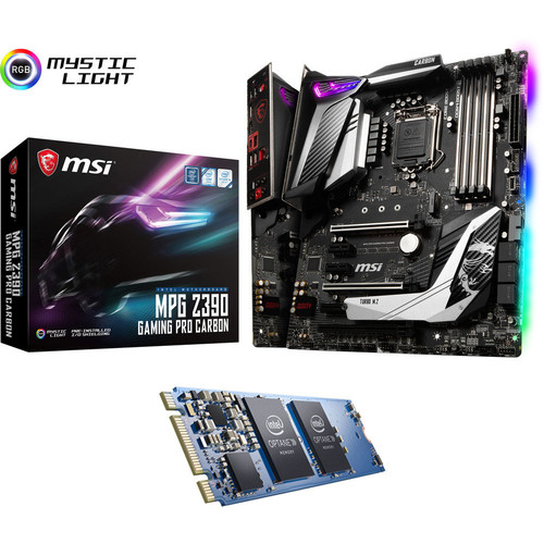 MSI MPG Z390 GAMING PRO CARBON + Intel Optane, 32 Go, M.2 (Type 2280)