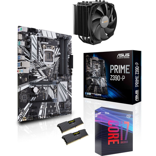 Kit d'évo Intel Core i7-9700K + Asus PRIME Z390-P + Dark Rock 4 + 16 Go