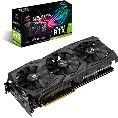 Asus GeForce RTX 2060 ROG STRIX OC GAMING, 6 Go