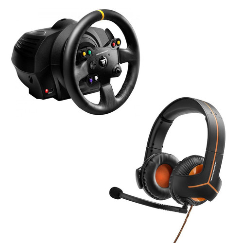 Thrustmaster TX Racing Wheel Leather Edition + Casque Y-350CPX 7.1