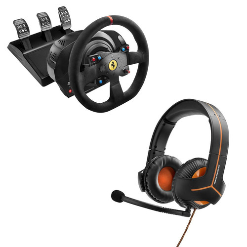 Thrustmaster T300 Ferrari Racing Wheel Alcantara Edition + Casque Y-350CPX 7.1