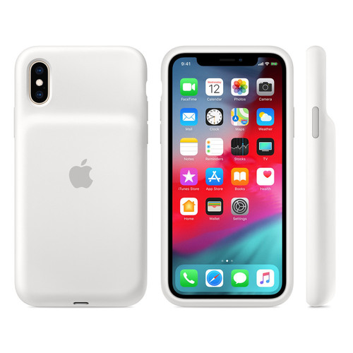 Apple Smart Battery Case pour iPhone Xs - Blanc
