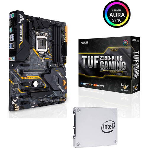 Asus TUF Z390-PLUS GAMING + Intel SSD 545s Series, 256 Go, SATA III