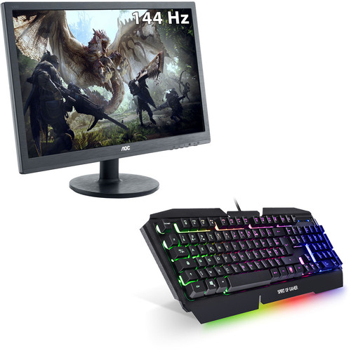 AOC Gaming G2460FQ + Spirit Of Gamer Pro-K5 (AZERTY)