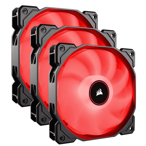 Corsair AF120 LED (2018), 120 mm (LED Rouges) (Pack de 3)