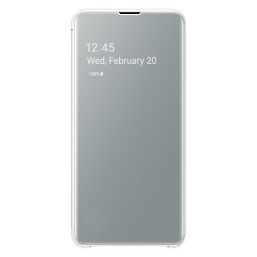 Samsung Clear View Cover Galaxy S10e - Blanc