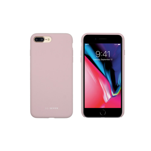 SoSeven Coque Smoothie Silicone iPhone 7+/8+ - Rose Poudré