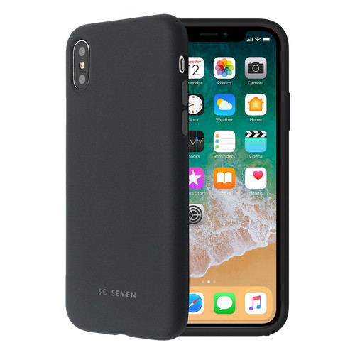 SoSeven Coque Smoothie Silicone iPhone X/XS - Noire