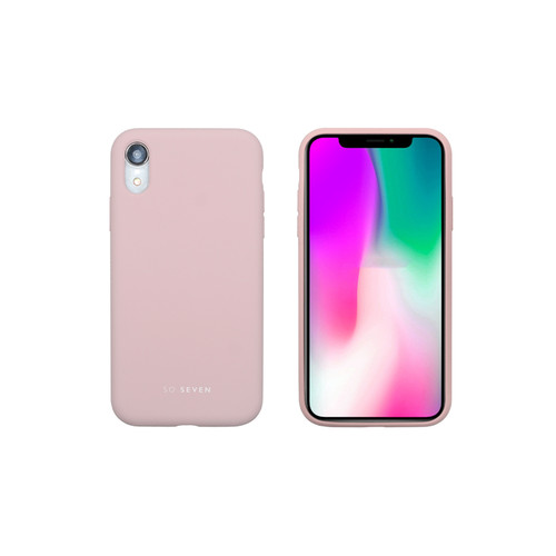 SoSeven Coque Smoothie Silicone iPhone XR - Rose Poudré