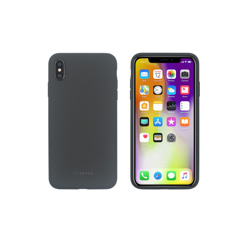 SoSeven Coque Smoothie Silicone iPhone XS Max - Gris foncé