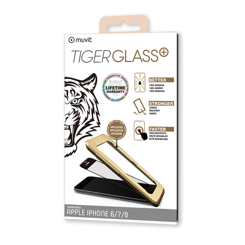 Muvit Tiger Glass Plus - Verre trempé iPhone 6/6S/7/8